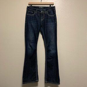 Silver Natsuki dark wash bootcut denim jeans
